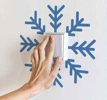Christmas Snowflakes light switch decal design. It is customisable in about 50 different colour option . Easy to apply and of great quality.