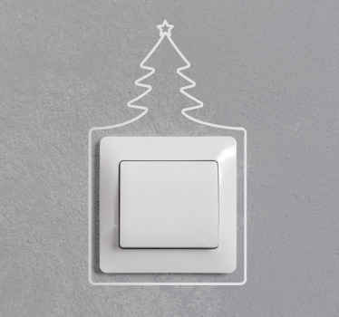 Decorative Christmas tree Line light switch decal. You can buy the design in any of the 50 colour we have. Easy to apply and available in any size.