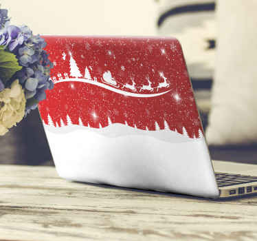 Share the fancy and joy of Christmas with others with this Christmas laptop decal decorated on your device. Easy to apply and of good  quality.