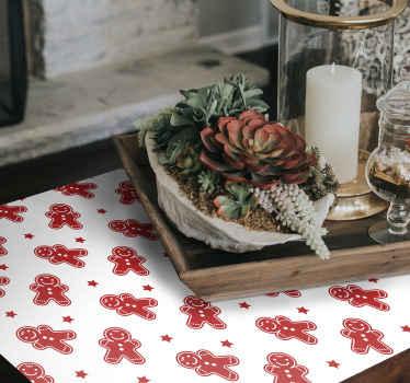 家具のための装飾的なクリスマスのステッカー。赤いクリスマスクッキーのデザインで、この素敵なデザインのテーブル、引き出し、キャビネットのワードローブを美しく。