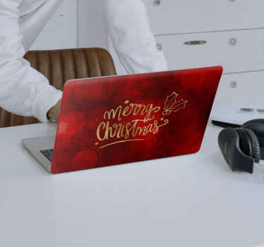 Do you want to share the joy and feeling of Christmas with a decoration on your laptop? Here is a Christmas decorative laptop decal for you.