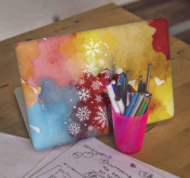 Decoratief kerstboom laptop sticker ontwerp voor elk laptop apparaat. Het is gemakkelijk aan te brengen en verkrijgbaar in elke gewenste maat.