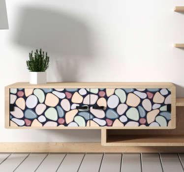 Vinilo decorativo piedras de mar