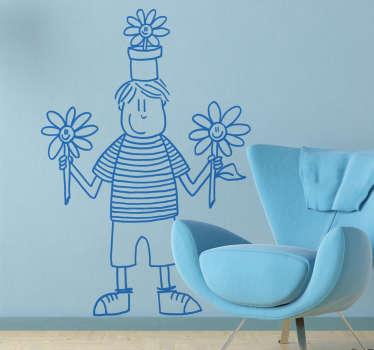 Spring Boy Wall Sticker