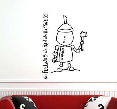 A great outline wall sticker of the character from the musical play 'The Wizard of Oz', Tin Woodman.