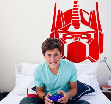 Sticker hoofd Optimus Prime