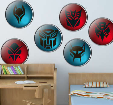 Sticker decorativo emblemi transformers