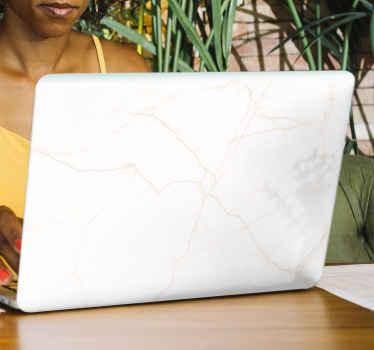 Ukrasna naljepnica za prijenosno računalo od svijetlog mramora. Dizajn je zaista lijep s teksturnim efektom mramora. Jednostavan za primjenu i visoke kvalitete.