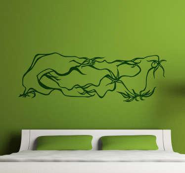 Sticker decorativo intreccio alghe