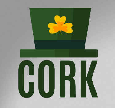 Decorative country theme car sticker design for Ireland. It is self adhesive and really easy to apply. Available in any size required.