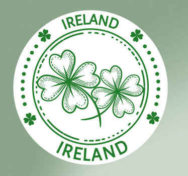 Decorative Ireland car sticker with a round green style pattern. The design is easy to apply and can be removed anytime. Available in any size.
