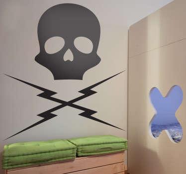 Naklejka dekoracyjna czaszka Death Proof