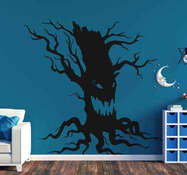 Scary Halloween tree sticker design that you can use to decorate any space for Halloween festival. Easy to apply and available in any size needed.
