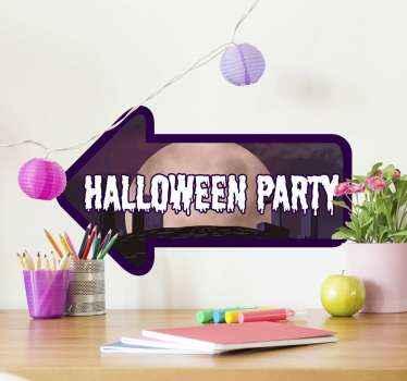 HAi organizzato una festa di halloween? Quindi devi acquistare questo adesivo di halloween per inviti alla festa. è facile da applicare e disponibile in qualsiasi dimensione richiesta.