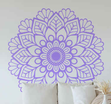 Yoga mandala flower wall sticker for home and commercial space decoration. It is available in different colours and size options. Easy to apply.