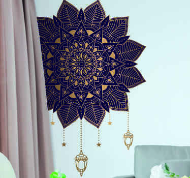 Mandala with elegant drops  floral wall sticker This design is lovely to decorate any flat surface of choice to present it with ornamental touch.
