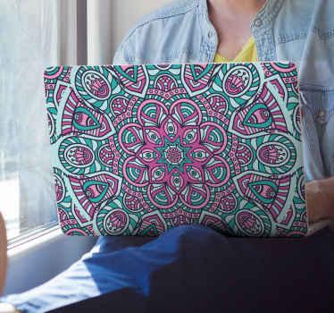 Vinil para laptop mandala de colores con aspecto encantador para decorar un portátil. Es autoadhesivo y duradero ¡Envío a domicilio!