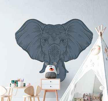 Vinilo de animales salvajes con elefante para colocar en cualquier superficie plana. Es autoadhesivo y fácil de aplicar ¡Envío a domicilio!