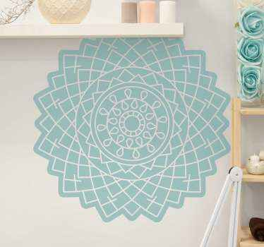 Ethical pattern mandala flower wall sticker to decorate any space of choice, it is self adhesive and really easy to apply.