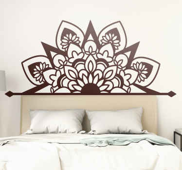 Flourishing style mandala flower decal design in mono colour. This design is customisable in about 50 different colour. Avavable in any size.