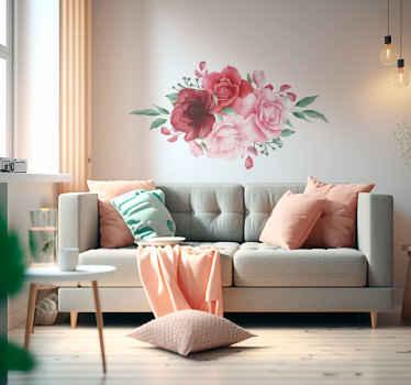 Nuestro vinil para laptop de flores rojas y rosas es perfecto para embellecer cualquier superficie plana ¡Envío a domicilio!