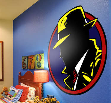 Dick Tracy Colour Wall Sticker