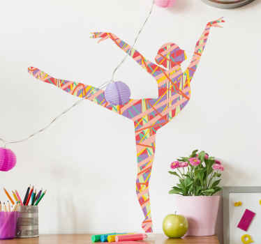 Beautiful baler dancer wall sticker The design is a silhouette decal of a dance personality, it is made with best quality vinyl and easy to apply.