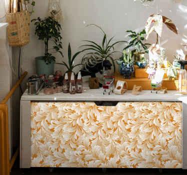 Elegante papel adhesivo para muebles con motivos florales para decorar mesas, armarios, cajones, etc. Elige medidas ¡Envío a domicilio!