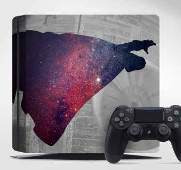 Darth vader personaggio ps4 skin decal design per i giocatori. è facile da applicare, autoadesivo, originale e disponibile in qualsiasi modello di formato ps4.