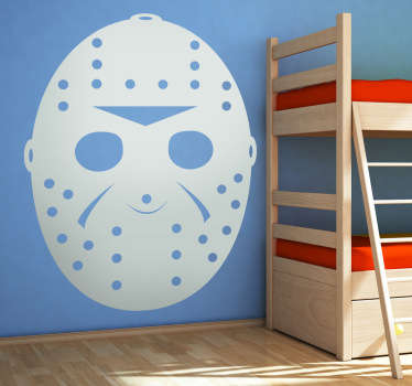 A great monochrome decal of the famous hockey mask of the killer in Friday the 13th, Jason!