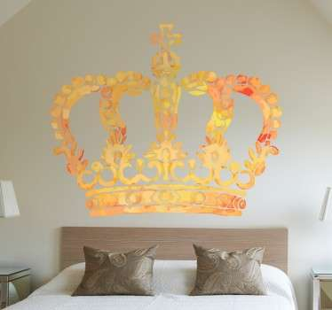 Wall sticker decor for royalty and the prestigious. Choose a size of your choice. It is very simple to apply and remove from your walls.