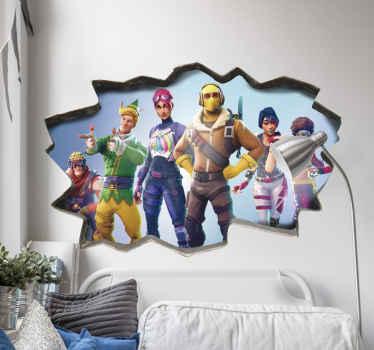 Farverigt fortnite 3d-afspiller videospil klistermærke til elskere af videospil. Denne værdighed er dejlig til teenage soveværelse og spil værelse dekoration.