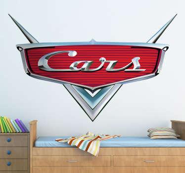 Adhesivo de la película de animación representado como un frontal de coche clásico lacado y metalizado. Un vinilo infantil para los más pequeños de la casa.