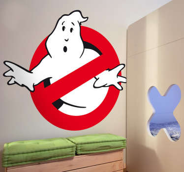 Who you gonna call? Ghostbusters! Decoreer de kamers met deze Ghostbusters muursticker.