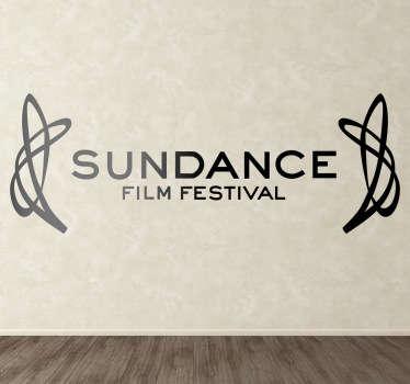 Sticker logo festival Sundance