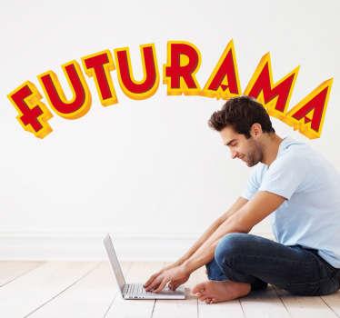 Sticker decorativo logo Futurama