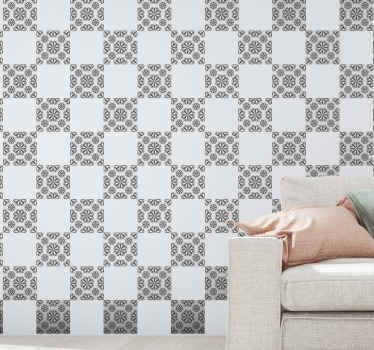 Transform any part of your home space with this original grey pattern tiledecal made with the best of quality vinyl. Easy to apply and adhesive.
