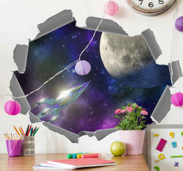 Decorate any part of your home with our super amazing original visual effect of starry night space sticker decal. It is original and easy to apply.