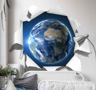 Decorative visual effect of the earth orbit from the comfort of your living room. Just imaging the wonderful rotation the earth makes around the sun