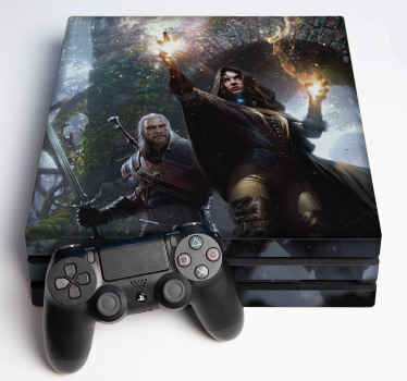 Decorate your game console with your favorite game series. Here we have the witcher wild hunt decal for ps4 . It is original with high graphic effect.