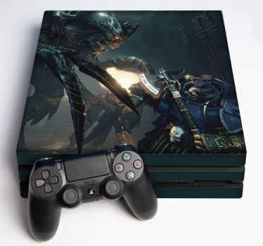 Space Hulk Death-wing ps4 skin decal for video gamer to decorate game console and controller. It is original and really easy to apply.