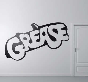 Decorate your home with this beautiful wall sticker that is inspired on the successful dance film Grease!