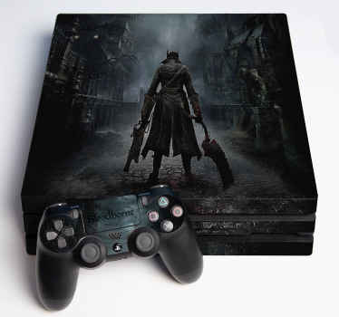 Decorative video game console stickerto wrap the surface of your device. A design of Bloodborne, it is easy to apply and of high quality.