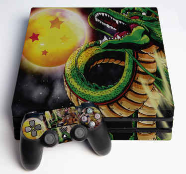 High quality ps4 with dragon ball design to stick on a console or controller. Made of high quality and easy to apply without wrinkle effect.