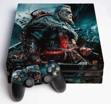 Make your playstation stand out in this visual effect assassin creed decal design. Realistic image of the main character of the assassin creed.