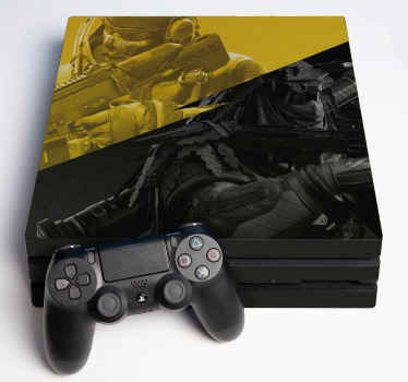 Stick on any itinerary of a ps4 as well as any version of controller with this call of duty ps4 decal. Made of high quality and easy to apply.