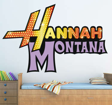 Sticker decorativo logo Hannah Montana