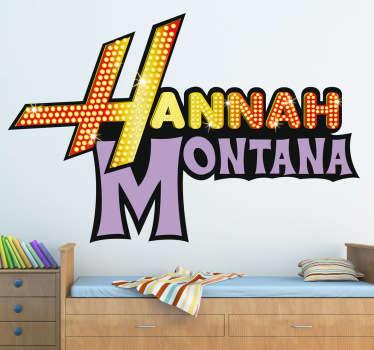 Sticker decorativo logo Hannah Montana