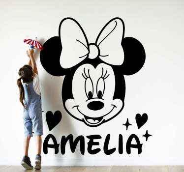 Bestel onze decoratieve Disney Minnie met naam sticker voor kinderen online bij ons en ontvang het in een paar dagen. De disney minnie is personaliseerbaar met naam naar keuze.