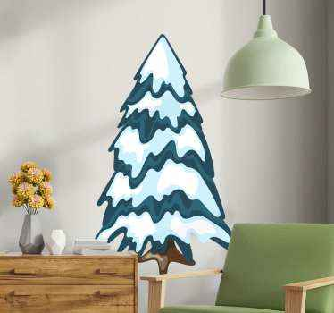 Tree wall art decal design for home and any other space.  It has the texture look of a tree covered in snow. Easy to apply and of high quality vinyl.